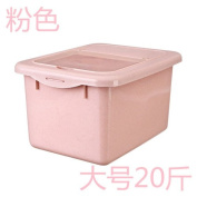 """Storage Jar / Containers/Storage Boxes,Chu Mi-box cylinder 20 kg load 10kg/15 kilos of rice moth plastic rice bucket bucket with lid kitchen storage,""""Pink 20 pounds"""""""