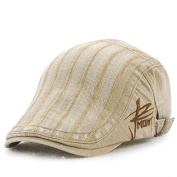 Ahat Fashionable and Casual Cotton Beret Cap with Embroidery for Sports,Hiking,Running,Shopping and Street Shooting