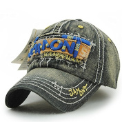 Ahat Fashionable and Casual Denim Cotton Baseball Cap with Appliqu¨¦ and Embroidery for Sports,Hiking,Running,Shopping and Street Shooting