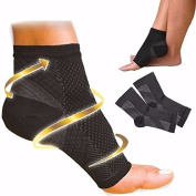 Zooarts 1 Pair Foot Angel Ankle Sleeve Anti Fatigue Compression Swelling Relief Socks