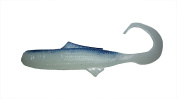 7.6cm Minnow Soft Plastic Lure, Curl Tail, Pack of 20, White Pearl w/ Blue Back, Made in USA #3MWPBLUPB