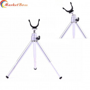 MarketBoss Delicate Folding Ice Fishing Tripod Stand Made with Aluminium Alloy for Good Rest When Ice Fishing