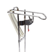 LeaningTech RHA-01 Stainless Fishing Rod Holder Rack, with Automatic Tip-Up Hook Setter, Double Spring, Adjustable Folding Holder, Silver