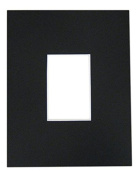 10 11x14 8-ply mat mattes BLACK for 5x7 Photo picture