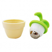 Green - creative flowerpot Shape Mini Handheld Roller Ball Arms Body Massager