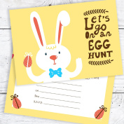Easter Egg Hunt Postcard Invitations - Easter Bunny Party Invites - Ready to Write with Envelopes