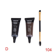 Binmer(TM) 2pc Brown Waterproof Tint Eyebrow Henna With Mascara Eyebrows Paint Brush Beauty