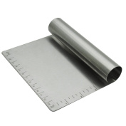 Silicone Gold sg3049 Cutter and Dustpan, Stainless Steel, Silver, 13 x 13 x 4 cm
