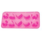 Silicone Gold Shapes Mould Ice Cubes, Pink, 23 x 14 x 3 cm