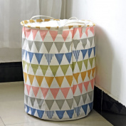 LU Cotton And Linen Waterproof Storage Barrels Dirty Clothes Basket