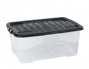 CEP 2002020110 xw202 Crystal 42 Litre Plastic Storage Box, 60 x 39,70 x 25.2 cm