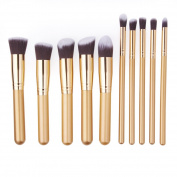 Makeup Brushes,10 Pcs Make Up Brushes ,Makeup Brush Set TianQin WY Premium Synthetic Kabuki Foundation Blending Blush Eyeliner Face Powder Brush Cosmetics Contour Kit
