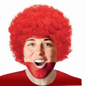 Pop Red afro Fancy Dress Pop Afro Wigs for Costumes & Outfits Accessory