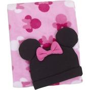 Disney Baby Minnie Mouse Baby Blanket & Beanie Set