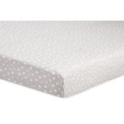 Babyletto Tuxedo Dots Mini Crib Sheet, Grey
