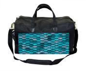 Blue Mermaid Scales Nappy/Baby Bag