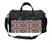 Red Damask Pattern Nappy/Baby Bag