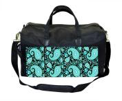 Blue Paisley Print Nappy/Baby Bag