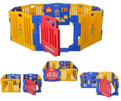 Baby Playpen Kids 8 Panel Safety Play Centre Yard Home Indoor Outdoor Pen Fence