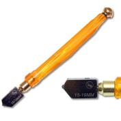 Kent Glass Cutter, Antiflex Plastic Handle,Carbide wheel,For Glass 15-19mm Thick