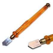 Kent Glass Cutter with Plastic Handle and Carbide wheel For Glass 12-15mm Thick