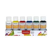 Handy Art RPC882555BN Washable Face Paints, 60ml, 6/Set, MultiPk 2 Sets