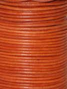 Natural Dye Orange Round Leather Cord 1.5mm x 50m BEST VALUE!