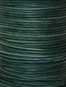 Natural Dye Turquoise Green Round Leather Cord 1.5mm x 50m BEST VALUE!