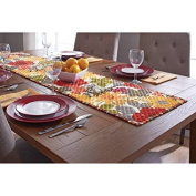 Quilted Silhouette Floral Runner, 36cm x 180cm