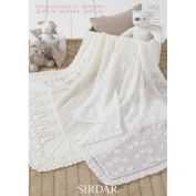 Sirdar Snuggly Baby 2 PLY and 3 PLY Blankets Knitting Pattern 1452