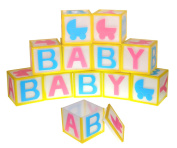 ACI PARTY AND SPIRIT ACCESSORIES 12 Piece Plastic Baby Blocks Multi Colour Package