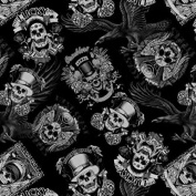 Hydrographics Film -Water Transfer Printing - 6 Metres Length Lucky Skulls - Water Transfer Film