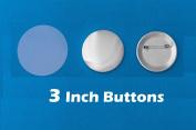 7.6cm Diameter 100 Pack Metal Round Buttons Parts - Metallic Badge Making Supplies