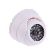 TOOGOO(R) Dummy Fake Surveillance Security Dome Camera with 30 Flashing LED Light SL SS