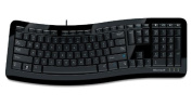 USB Microsoft 3000 Comfort Curve Qwerty Keyboard / 105 Key UK Layout Including Multimedia Keys / Compatibility Windows 7/8.1/10 / . Modern Glossy Black Design / iCHOOSE