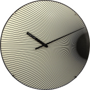 Unek Goods Nextime Rays Luminous Dome Wall Clock, Round, Battery Operated, Glows in the Dark.