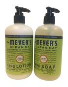 Mrs. Meyers Lemon Verbana Hand Lotion (350ml) and Hand Soap (370ml) bundle