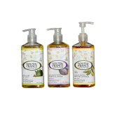 South of France Green Tea Hand Wash, Lavender Fields & Lemon Verbena Bundle with Aloe Leaf Extract and Coconut Oil, 240ml each