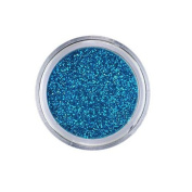 Young Nails False-Nail Glitter, Western Blue, 5ml