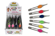 Max Force 01-1194 Mini Cushion Grip Tweezers in Assorted Colours by Diamond Visions