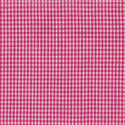 Dunroven House Mini Cheque Tea Towel, Pink/White