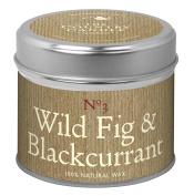 The Country Candle Company Wild Fig and Blackcurrant Simply Natural Soy Wax Candle in Tin, Brown