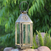 Stylla London Halloween Gift Handcrafted Decorative Copper Finish Outdoor Lamp Lantern Candle Holder Christmas Gift