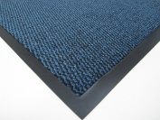 BIG EXTRA LARGE BLUE AND BLACK BARRIER MAT RUBBER EDGED HEAVY DUTY NON SLIP KITCHEN ENTRANCE HALL RUNNER RUG MATS 120X180CM
