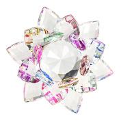 BTSKY 100MM Colourful Rainbow Colour Crystal Sparkle Crystal Lotus Flower Ornaments Craft Decoration Home Decoration Feng Shui Decoration