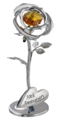 """""""50th Anniversary"""" Silver Flower with Golden Crystal Elements by Haysom Interiors"""
