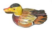 Wooden Ducks - antique style - 15 & 20 cm - Fair Trade - each with unique colours (Duck 1