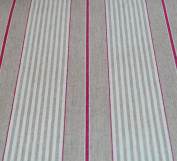 Oilcloth Table Fabric French Red Harbour Stripe