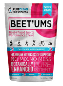Beet'Ums Delicious Beet-Infused, Chocolate-Pomegranate Performance Chews, Super Concentrated Fermented Beet Juice Powder, Botanically-Enhanced for Maximum Benefits