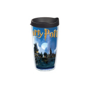 Tervis Harry Potter Hogwarts Scene Individual Wrap Tumbler with Black Lid, 470ml, Clear